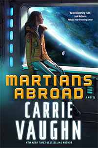 the cover to Martians Abroad, or Polly and <strike>Charles</strike> Save the Universe